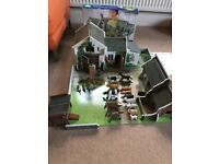 ELC cobblestone wooden farm with aninmals