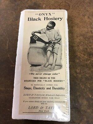 Lord & Taylor Wholesale Importers Black Hosiery Onyx Advertising Black Americana