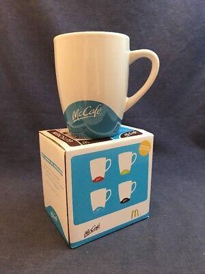 2012 GERMAN McDonalds McCafe CAPPUCCINO Mug Blue European w Box BLUE Coffee Rare