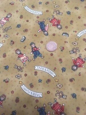 LUSTIG GARTEN VOGELSCHEUCHE Design 100% Craft Cotton Company Quilt Stoff ()