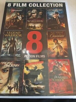 Action Films: 8 Film Collection (DVD, 2015, 3-Disc Set) NEW Sealed Warlords (2E)