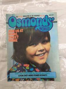 OSMONDS WORLD MAGAZINE - ISSUE No 5 MARCH 74 EX CONDITION