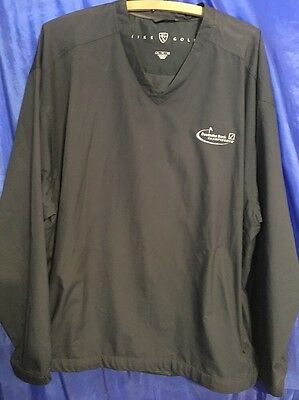 Deutsche Bank Championship Nike Golf V Neck Windbreaker Mens Size Xl