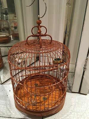 ~Vintage~ Wooden Asian Bird Cage