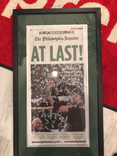 Купить Philadelphia Eagles Super Bowl LII Champions Inquirer Newspaper Framed 2/5/2018