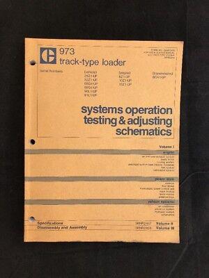 Cat Caterpillar 973 Track Type Loader Systems Operation Testing Adjusting Vol 1