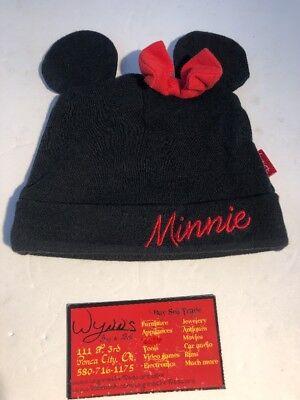 DISNEY MINNIE MOUSE BEANIE Baby's Hat Disney Ears