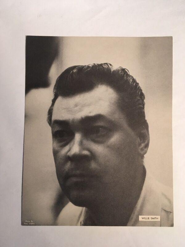 "Vintage Willie Smith Photo By Phil Stern  8 1/4 X 10 1/2"" Jazz Print"