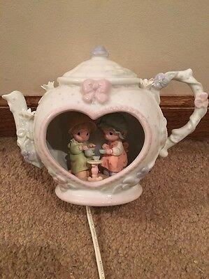 Precious Moments 92 Teapot Night Light Lamp Night Light Underglaze Nitelite Box