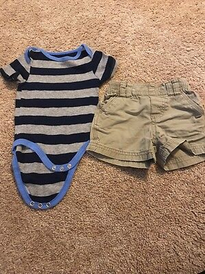 Circo Infant Boys Blue Gray Two-Piece Outfit Size 6 Months Blue Infant Two Piece