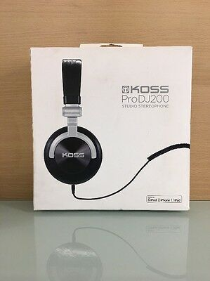 Koss Pro DJ200 Full Size Over-Ear DJ Headphones with Mic - Black (A1)