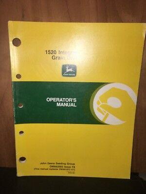 John Deere 1520 Integral Grain Drill Operators Manual.