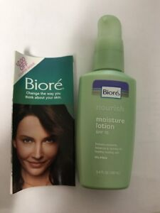 Biore Protecting Moisture Lotion SPF 15 3.4 fl oz (100 ml). UNBOXED