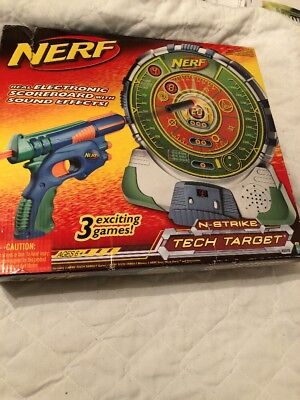 Nerf N Strike Tech Target Real Electronic Scoreboard With Sound Effects  Rare