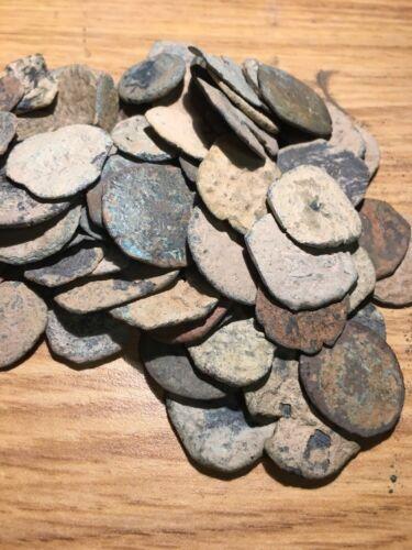Random 1400s-1700s Spanish Pirate Copper Cob Coin Treasure Coin Medieval For Sale - 2