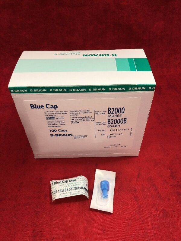 New Box Of 100 Braun Blue Cap Dual Function Luer Lock Plus B2000