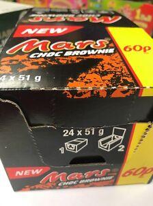 New Mars CHOC BROWNIE mars Bar Chocolate Bars Full Case X24 Bars Free Delivery!