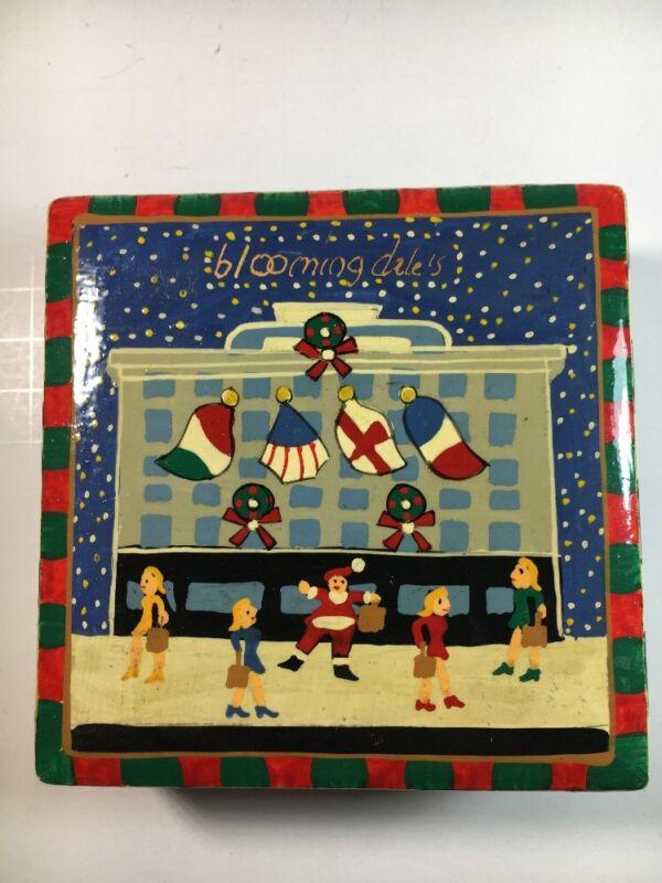 Bloomingdales Vintage New York Christmas Coaster Set Of 6 Rare