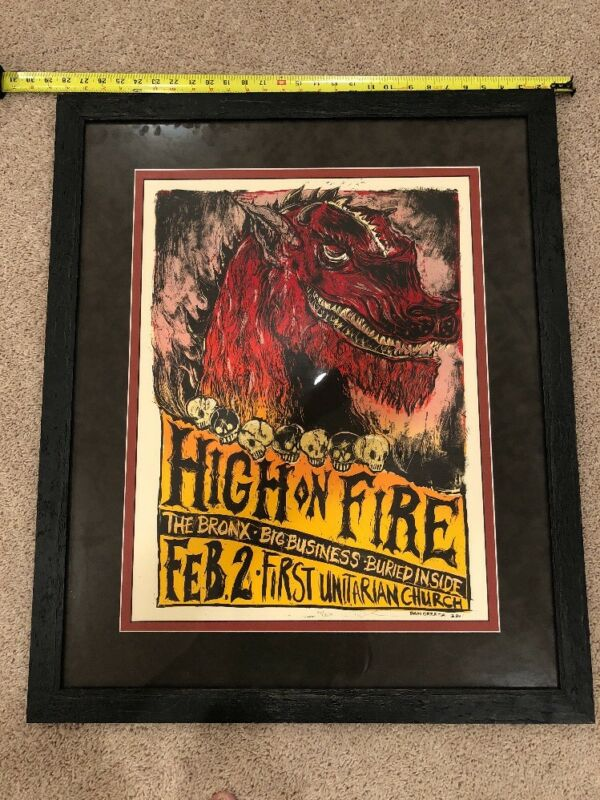 High On Fire: 2006 Philadelphia: AP, Signed, Dan Grzeca