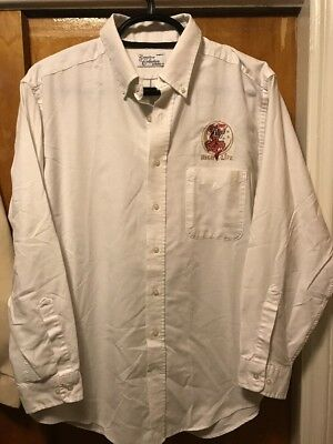 MILLER BREWING Milwaukee ~ 2XL HIGH LIFE BEER VINTAGE L/SLV Delivery Work Shirt