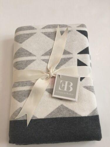 Elegant Baby 100% Cotton Sweater Knit Blanket Grey & Pink