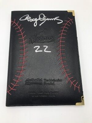 Houston Astro Check Holder Credit Card Folder Bill Signed By Roger Clemens