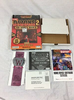 D!Zone 2 CD ROM For Doom & Doom 2 BIG BOX 1000 All New Levels! Wizard Works