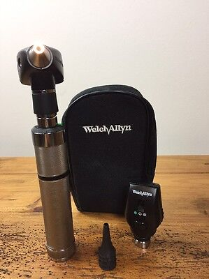 Welch Allyn 3.5v Otoscope 20000a Ophthalmoscope 11720 Diagnostic Set