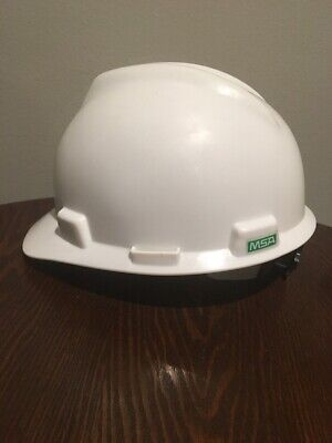 Msa V-gard Heavy Plastic Hard Hat With Crank Adjustable Suspension Medium
