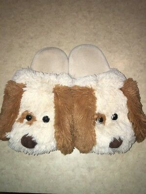 Fluffy Dog Bedroom Slippers