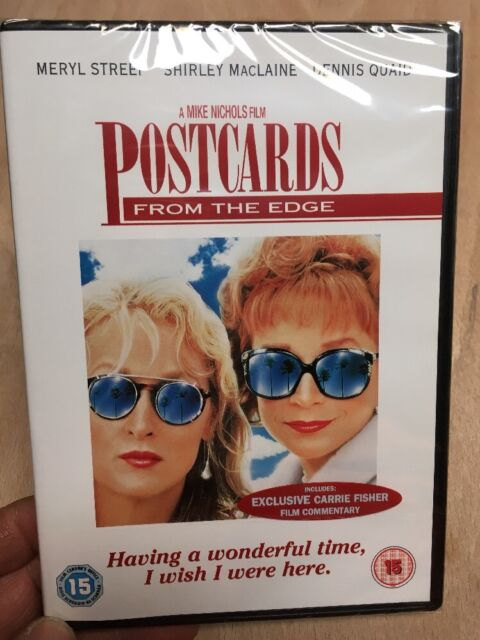 Postcards From The Edge:Carrie Fisher Book(R2 DVD)New+Sealed Meryl Streep 1990