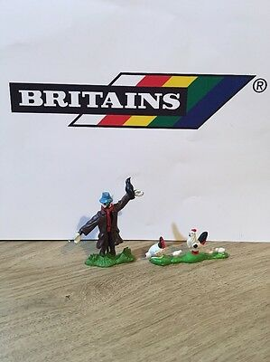 Vintage Britains Plastic Scarecrow And Hens.