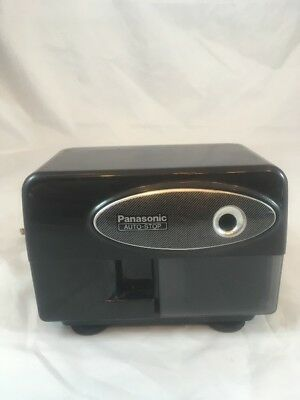 Panasonic Auto-stop Electric Pencil Sharpener Kp-310 Black - Tested And Working