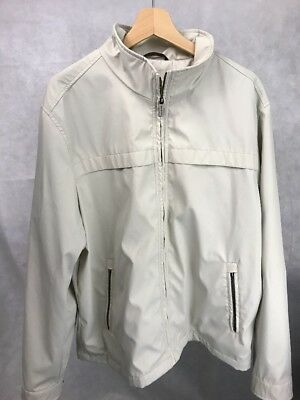 Michael Kors Mens Soft Shell Full Zip Jacket White Cream Dual Pockets XL Fall ()