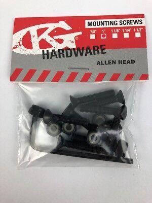 """NOS Grind King SKATEBOARDS 1"""" Allen Key Skateboard Hardware nuts and bolts"""