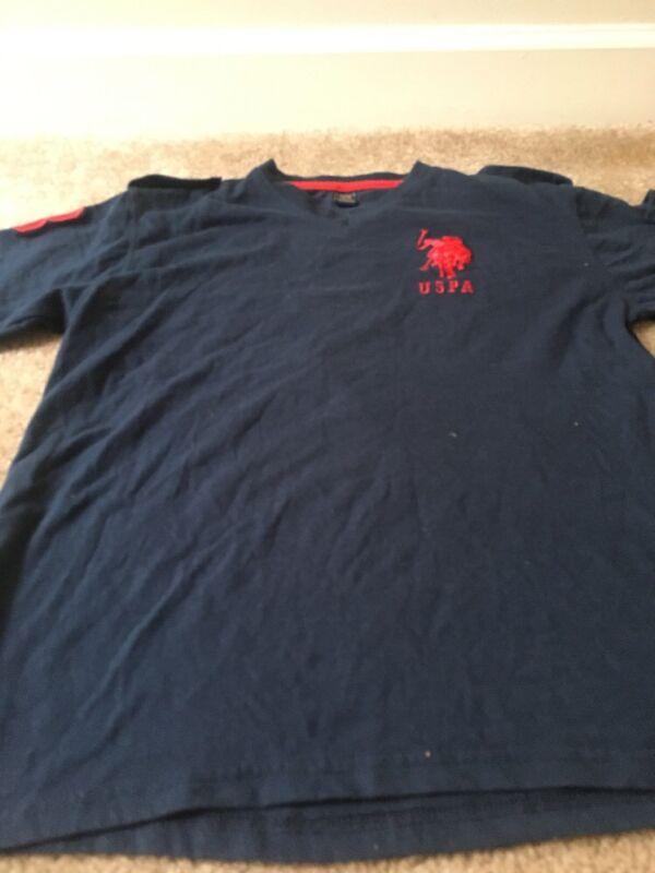 U.S. Polo ASSN. Kids T-Shirt Top Sz 14/16 Blue Shirt Clothes