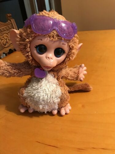 FurReal Friends Monkey Baby Cuddles My Giggly Pet Plush Interactive Toy Real T9