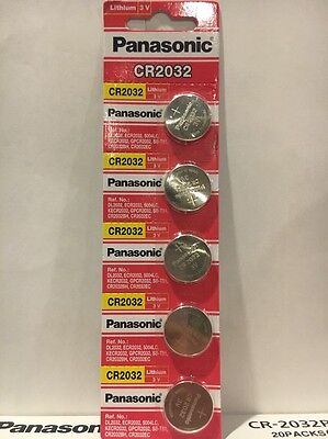 panasonic cr2032 3v lithium battery x 5pcs single use batteries Fresh USA Seller
