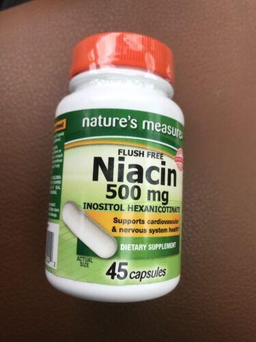 Niacin 500mg Flush Free Heart Health Promotes Energy Metabolism 032251265242 - $3.88