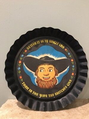 Amish Single (Tole Twins Amish Pie Tin Better It Is to Single Live Than To The Wife the Britch)