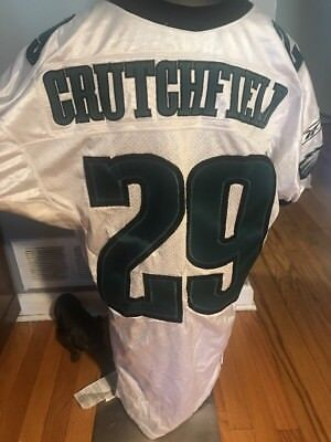 Darrel Crutchfield Game Worn Eagles Jersey 2001 Nfl Hologram Coa