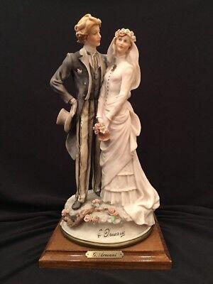 Florence Giuseppe Armani BRIDE AND GROOM Figurine Vintage 1984 Rare Striped Pant