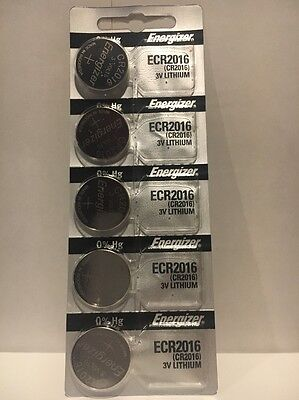 Energizer Pack 5 Cr2016 Lithium Battery 2016 3v Batteries Cr Coin New USA Seller