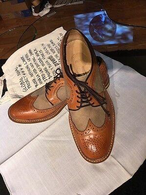 Preventi  Men's US 11,5 Tan Oxford euro 44 made in spain