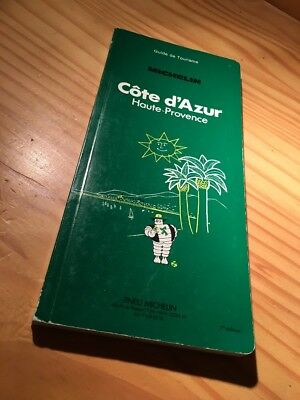 Guide green Michelin Côte d ' Azur High Provence 1 ère edition , 1981