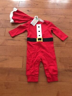 NWT Carters Baby Santa Suit W Hat Red Christmas Size 3 Month