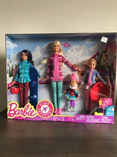 Barbie Sisters Stacie Chelsea Skipper Pink Passport Winter G