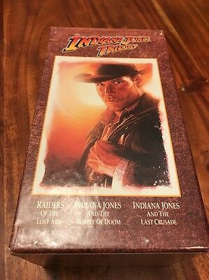 THE INDIANA JONES TRILOGY **Collectors Edition** VHS BOX SET ** (KC)