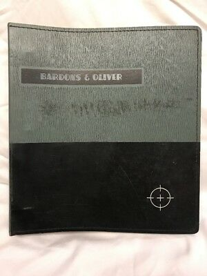 Bardons Oliver 2 Turret Lathes Instruction Manual 1978