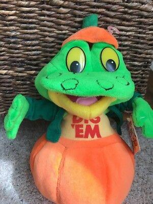 "2001 Team Tony ""Dig Em"" Kellogg's 12 Inch Plush Stuffed Frog Pumpkin Halloween"